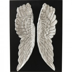 Wall Decoration Wings Silver 110x80cm Kare Design