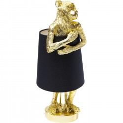 Table Lamp Animal Monkey Gold Black Kare Design