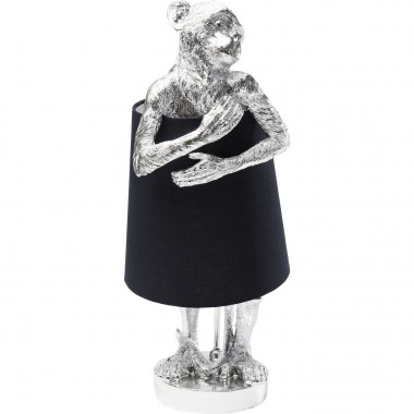 Table Lamp Animal Monkey Silver Black Kare Design