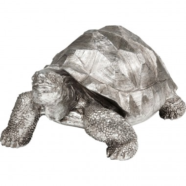 Deco Figurine Turtle Silver Medium Kare Design