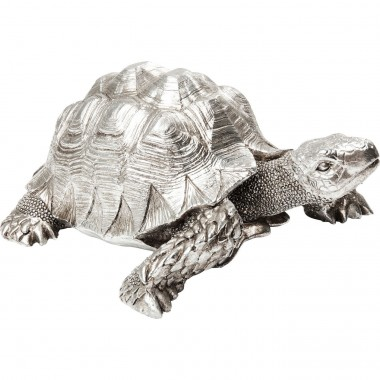 Deco Figurine Turtle Silver Small Kare Design