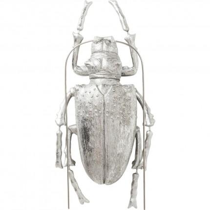 Wall Decoration Longicorn Beetle Silver Kare Design