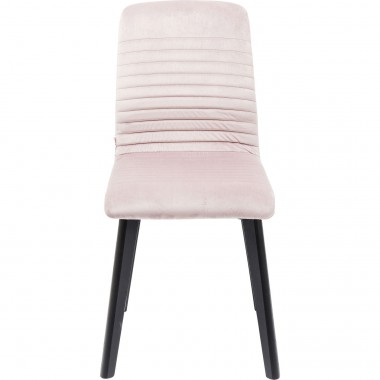 Chair Lara Black Velvet Mauve Kare Design