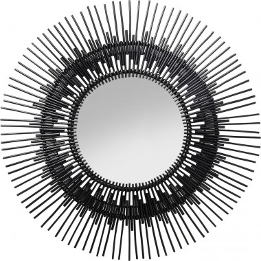 Mirror Icario Black Ø90cm Kare Design