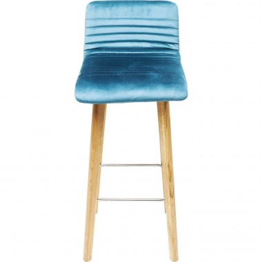 Bar Stool Lara Velvet Bluegreen Kare Design