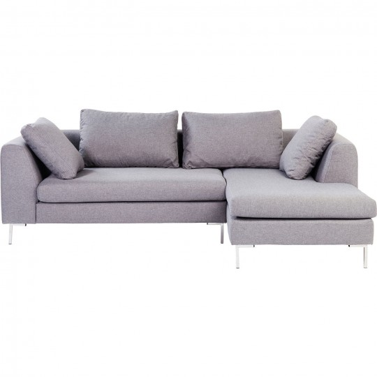 Grey Contemporary Corner Sofa Bruno