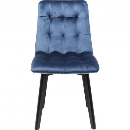 Chair Black Moritz Velvet Blue Kare Design