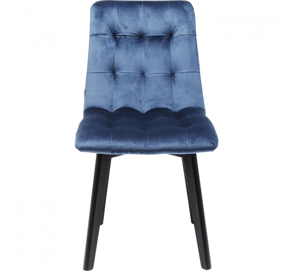 Chair Black Moritz Velvet Blau Kare Design