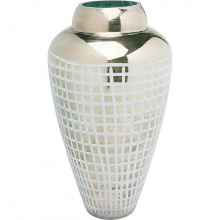Vase Square bleu 41cm Kare Design