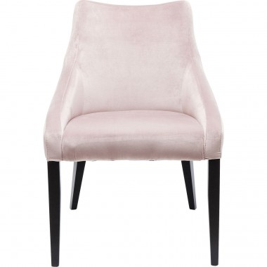 Chair Black Mode Velvet Mauve Kare Design