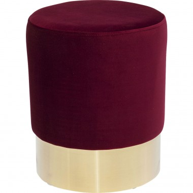 Stool Cherry Bordeaux Brass  Ø35cm Kare Design