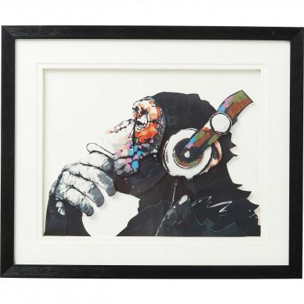 Picture Frame Art Monkey Musik 60x50cm Kare Design