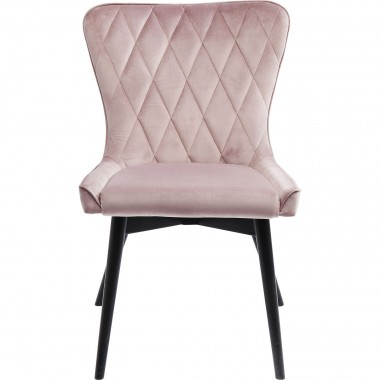 Chair Black Marshall Velvet Mauve Kare Design