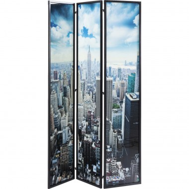 Room Divider Glass NY Skyline Kare Design