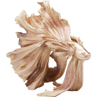 Deco Figurine Betta Fish Gold Kare Design