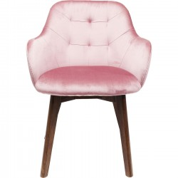 Chaise avec accoudoirs Lady Stitch rose Kare Design