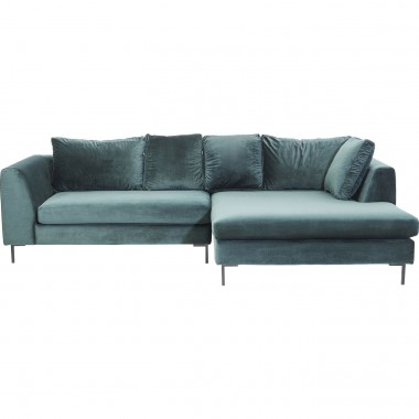 Corner Sofa Gianni Velvet Green Right Kare Design