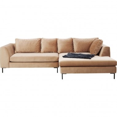 Corner Sofa Gianni Velvet Champagner Right Kare Design