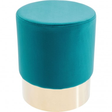 Stool Cherry Bluegreen Brass Ø35cm Kare Design