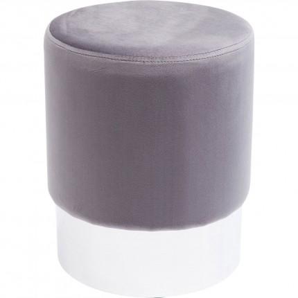 Stool Cherry Light Grey Silver Ø35cm Kare Design