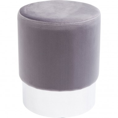 Tabouret Cherry gris clair et chrome Kare Design