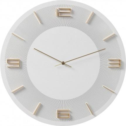 Wall Clock Leonardo White/Gold Kare Design