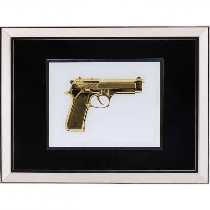 Ingelijste kunst Mirror Gun Gold 80x60cm Kare Design