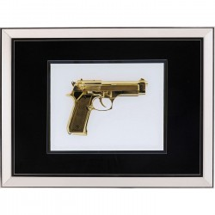 Picture  Frame Mirror Gun Gold 80x60cm Kare Design