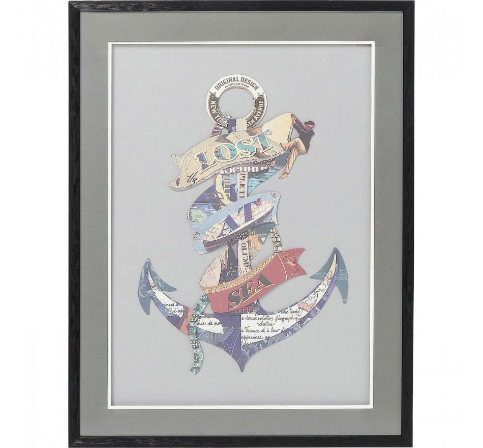 Tableau Frame Art Anchor 80x60cm Kare Design