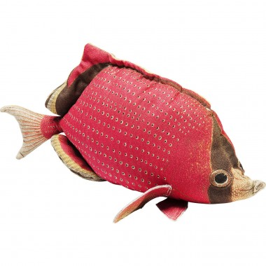 Cushion Shape Fish Dots Red 33x62cm Kare Design