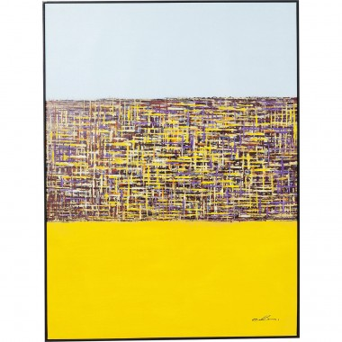Picture Touched Meander Yellow 122x92cm Kare Design