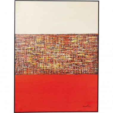 Tableau Touched Meander rouge 122x92cm Kare Design