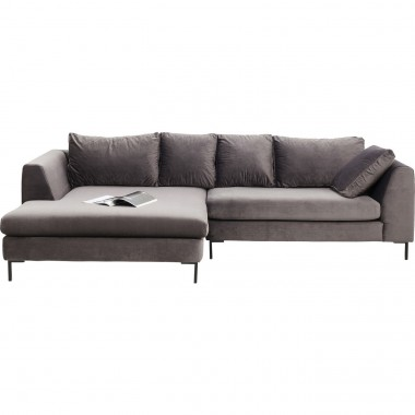 Corner Sofa Gianni Velvet Grey Left Kare Design