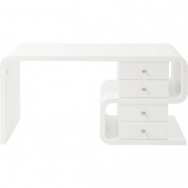 White Club Desk Snake 150x70cm Kare Design