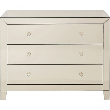 Dresser Luxury Champagne 3 Drawers Kare Design