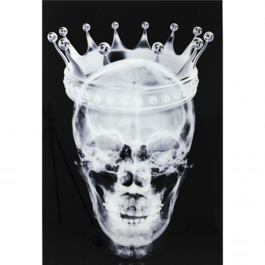 Picture Glass Crown Skull 120x80cm Kare Design