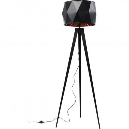 Lampadaire Triangle Tripod noir mat Kare Design