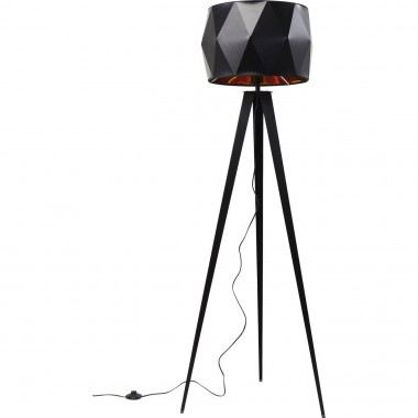 Floor Lamp Stright Tripod Matt Black Kare Design