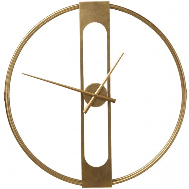 Wall Clock Clip Gold Ø60cm Kare Design