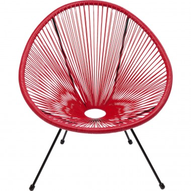 Fauteuil Acapulco cherry