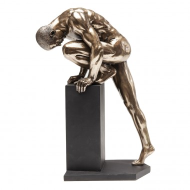 Deco Object Nude Man Stand Bronze 35cm Kare Design
