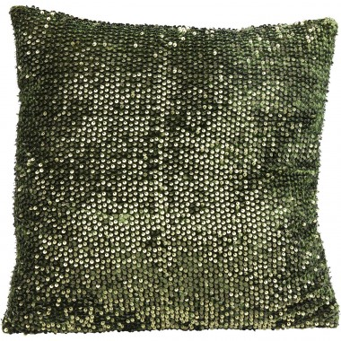 Cushion Paillette Green 45x45cm Kare Design