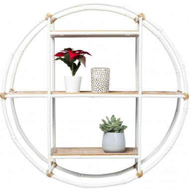 Wall Shelf Jungle Bamboo White Ø60cm Kare Design