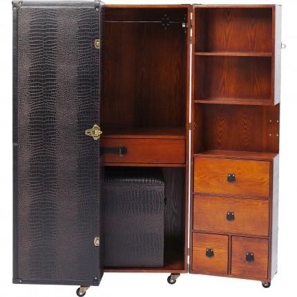 Wardrobe Trunk Office Croco Brown Kare Design