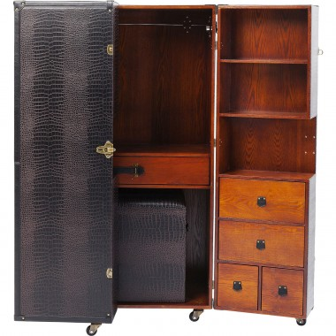 Wardrobe Trunk Office Croco Brown Kare Design