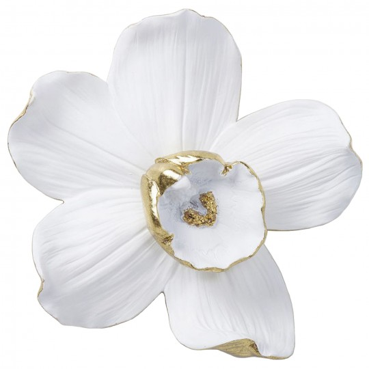 Wall Decoration Orchid White 25cm Kare Design