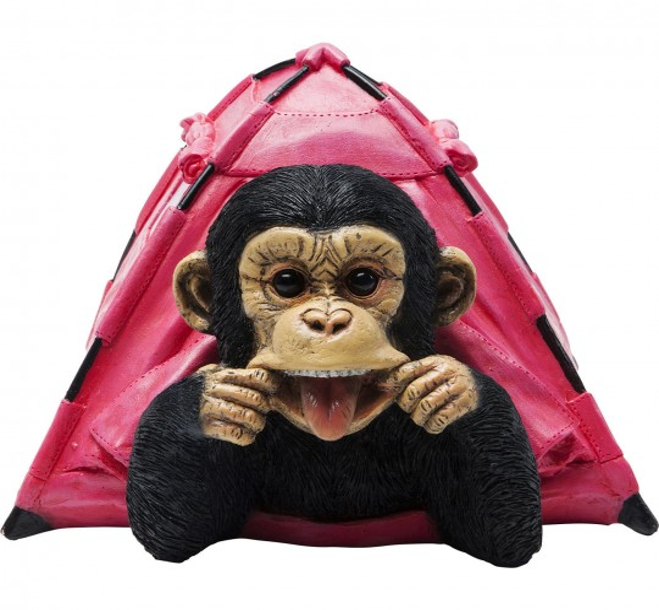 Tirelire singe camping Kare Design
