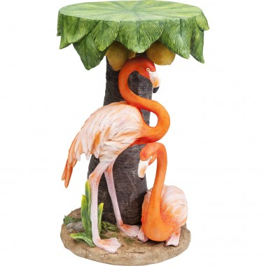 Table d'appoint Animal flamants roses 36cm Kare Design