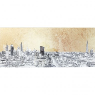 Picture Glass Metallic London View 50x120cm Kare Design