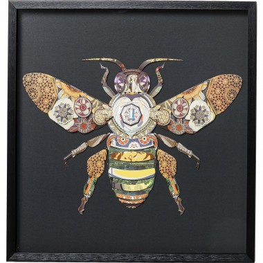 Picture Frame Art Bee 60x60cm Kare Design